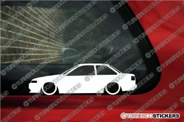 2x Low car outline stickers - Toyota Levin AE86 1600GT Apex Coupe hachiroku